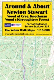 A&A Map Newton Stewart, Wood of Cree, Knockman, Kirroughtree