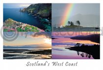 Scotland's West Coast Composite 2 Postcard (HA6)