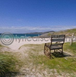 Seat on the Beach, Achmelvich, Assynt (Art)