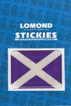 St Andrews Cross - Saltire Rectangle Pdome Stickies