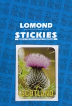 Thistle Scotland Rectangle Polydome Stickies