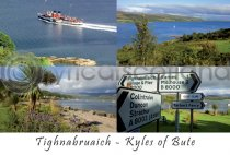 Tighnabruaich, Kyles of Bute Composite Postcard (H A6 LY)