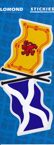 X-Flag St Andrews - Saltire & Lion Large Stickies